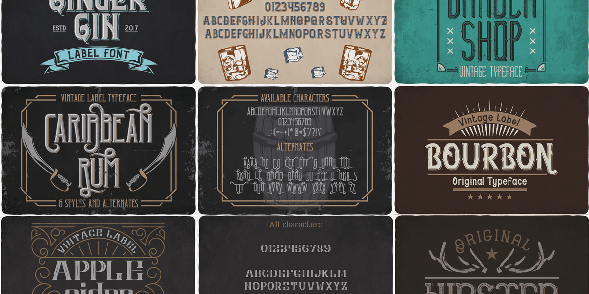 69 Retro/Vintage Style Fonts Bundle, Commercial Use License! | Bypeople