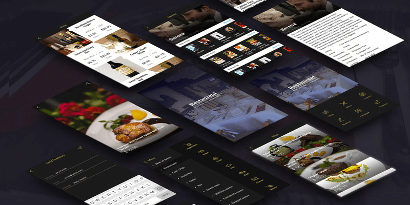 Restaurant App Template (PSD) | Bypeople