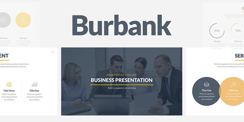 Burbank: Business Presentation Template (Slides, Powerpoint