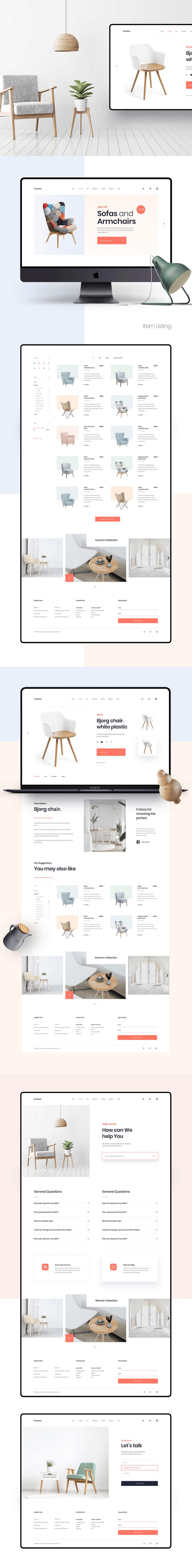 Furniture Website Template Sketch Bypeople