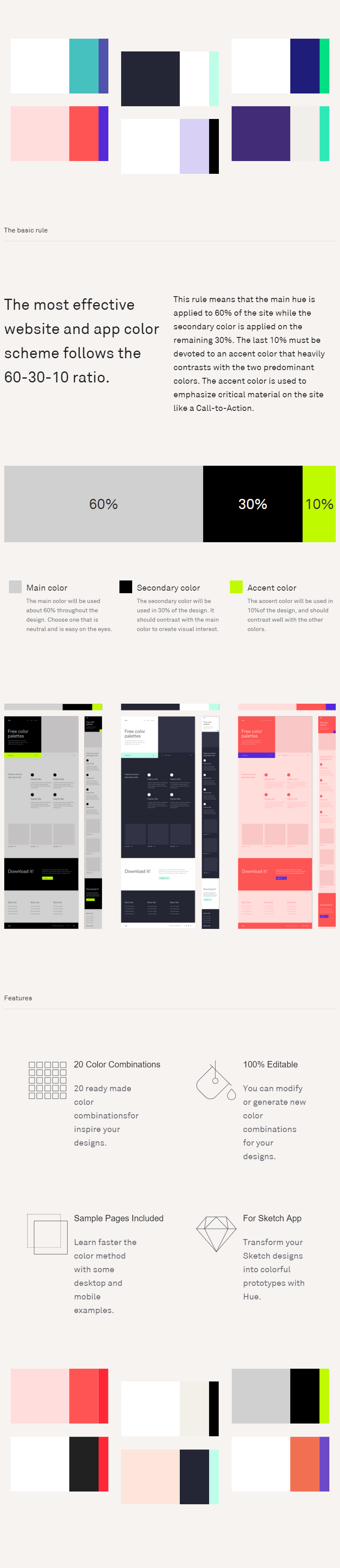 Hue Website And App Color Palettes Sketch Bypeople
