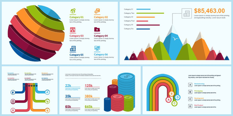 900+ Vector Infographic Elements, Ai & EPS File Formats, 150 Ready