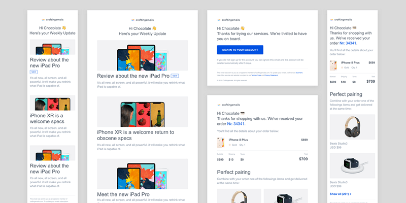 Transactional Email Templates Figma Sketch Bypeople