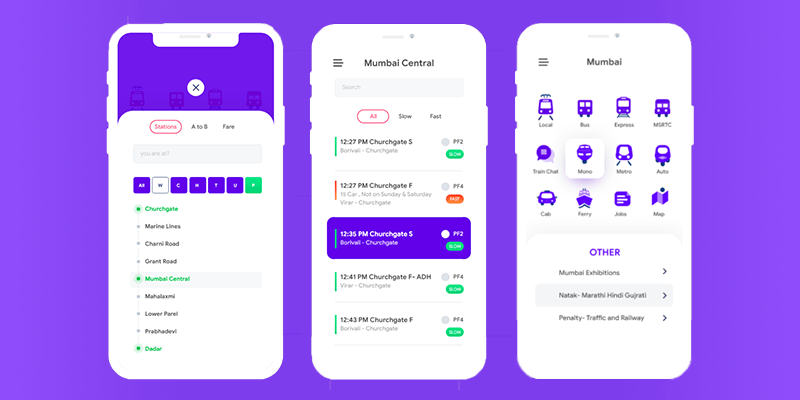 Transportation Mobile App Template (Adobe XD) | Bypeople