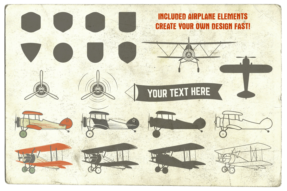 a poster showing retro/vintage designs included in the offer