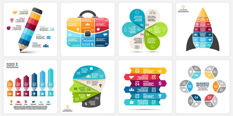 1500 Infographic Templates, 25k+ Elements, PPT, PPTX, KEY, PSD, EPS