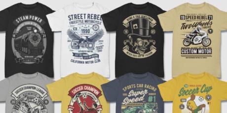 100 Unique Vector T Shirt Designs Ai Svg Eps Files Commercial