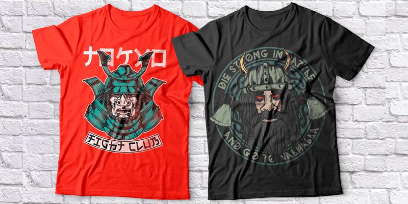 280+ Unique T-Shirt Prints/Illustrations, Print Ready – EPS