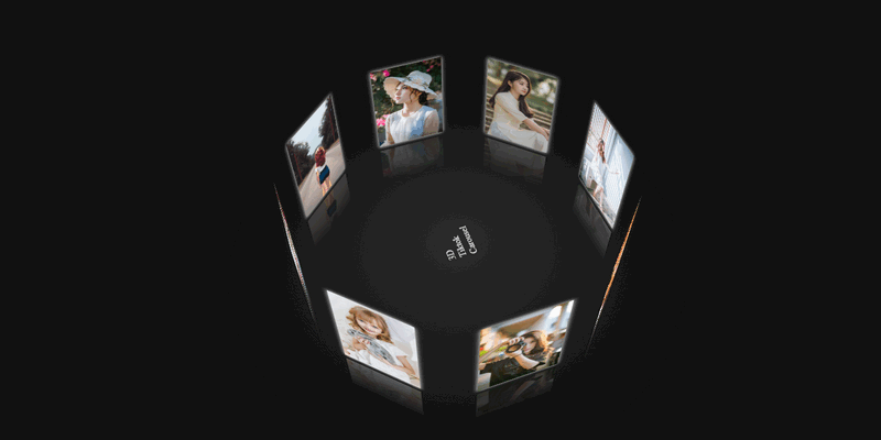 3D JavaScript Carousel With Music Player | Bypeople