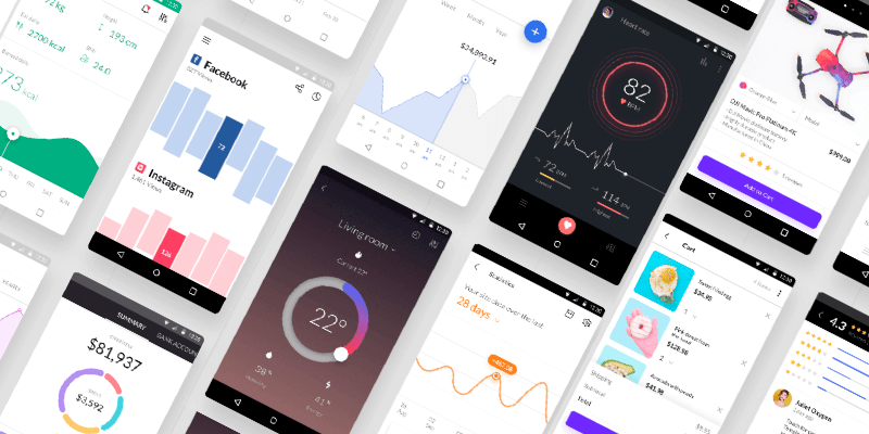 Android UI Kit For XD, Figma & Sketch, 1100+ Elements, 120+