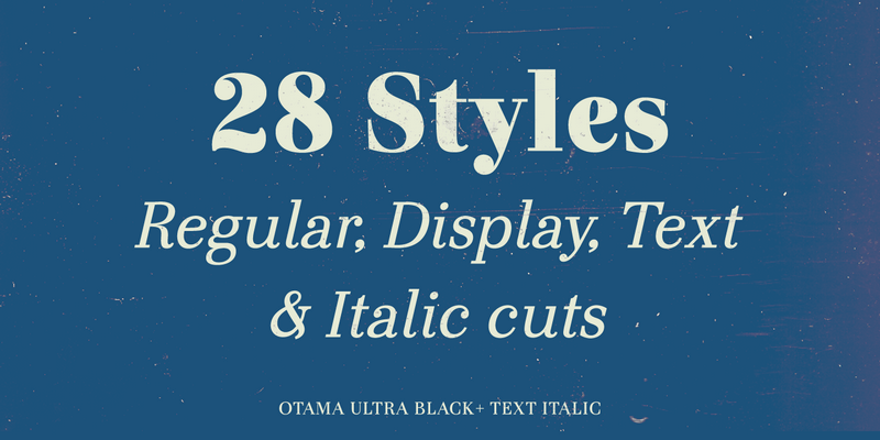 Otama Font Family: 28 Elegant Serif Font Variations, OTF