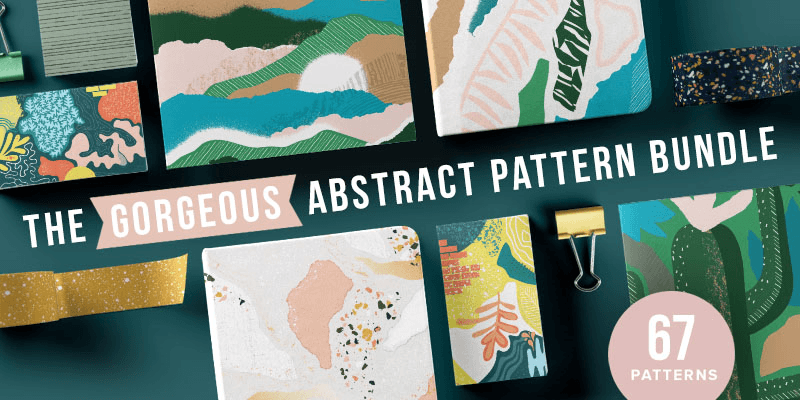 95+ Trendy Abstract Vector Collages, Patterns & Backgrounds