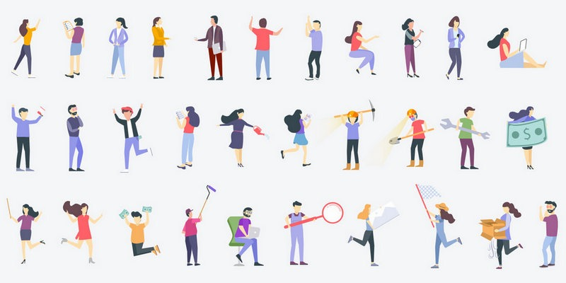 300+ Trendy Web Illustrations Pack + Illustrations Generator