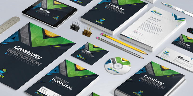 Stationery Branding Pack: Invoices, Business Cards, Folders