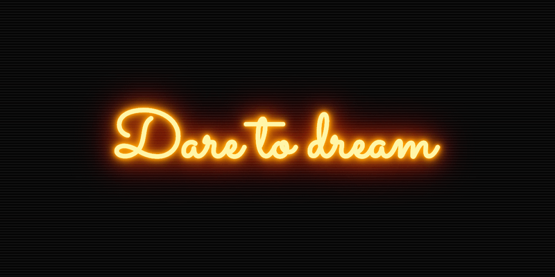 CSS Neon Sign Effect   Bypeople