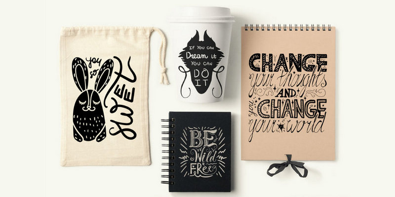50 Vector Inspirational Positive Print Quotes Eps Svg Files Bypeople