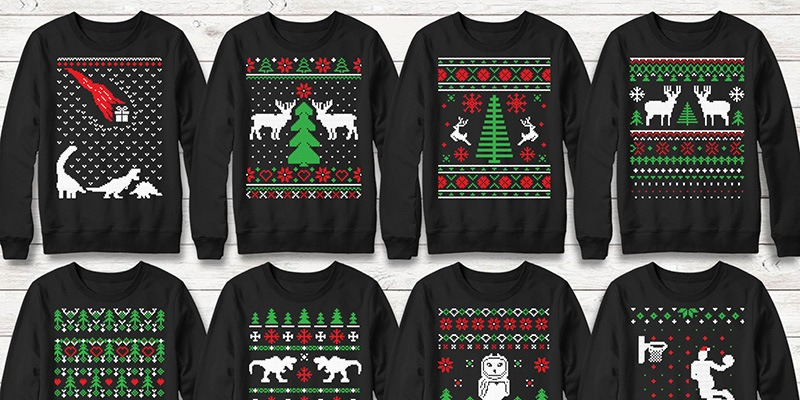 100 Ugly Christmas Sweater Vector Designs Pack Knitted Font Vector Ornaments Included Bypeople