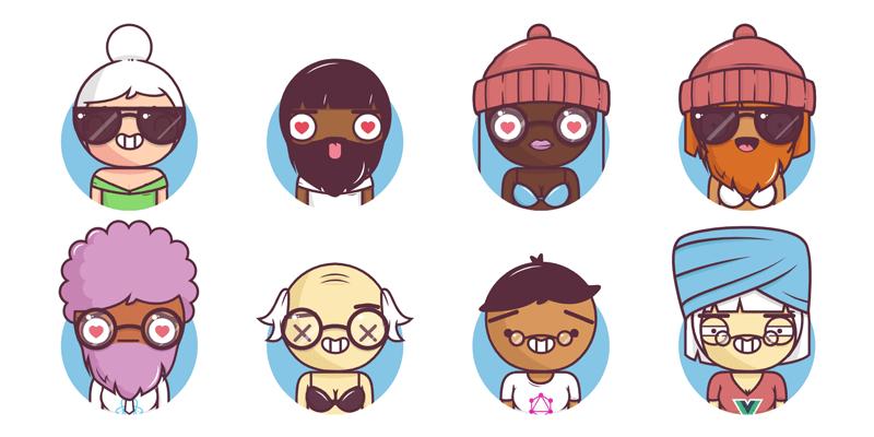 Randomly Generated Avatars & Characters