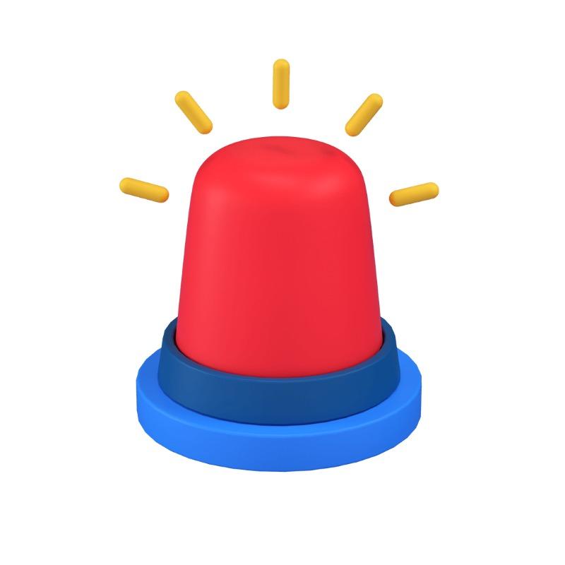 3d icon of an alarm siren