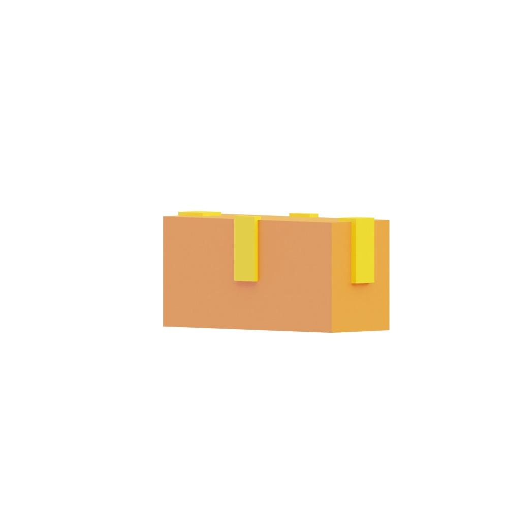 3d illustration of a large sealed box