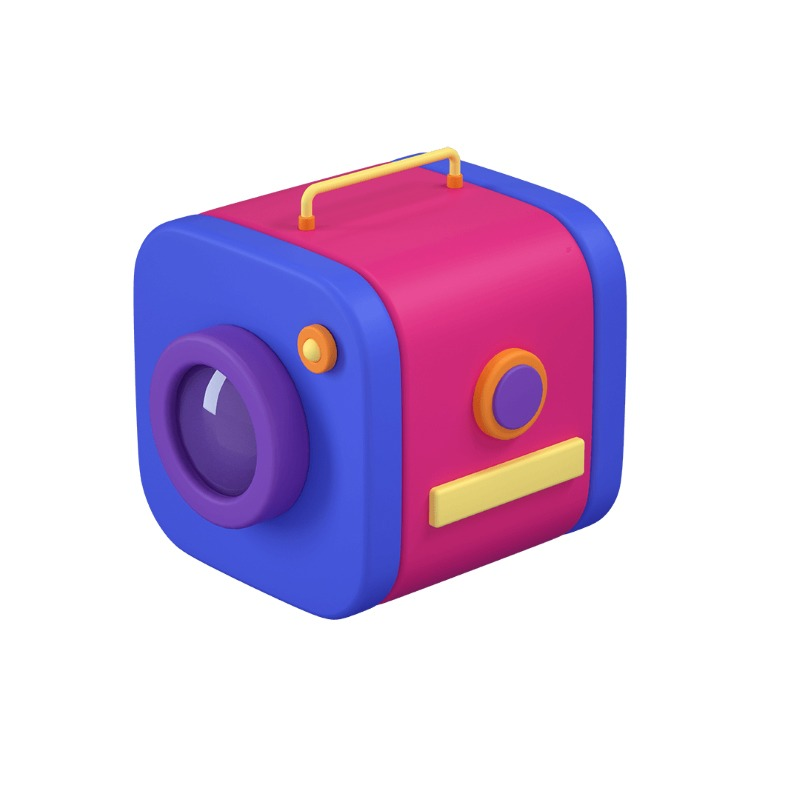3d icon of a camera