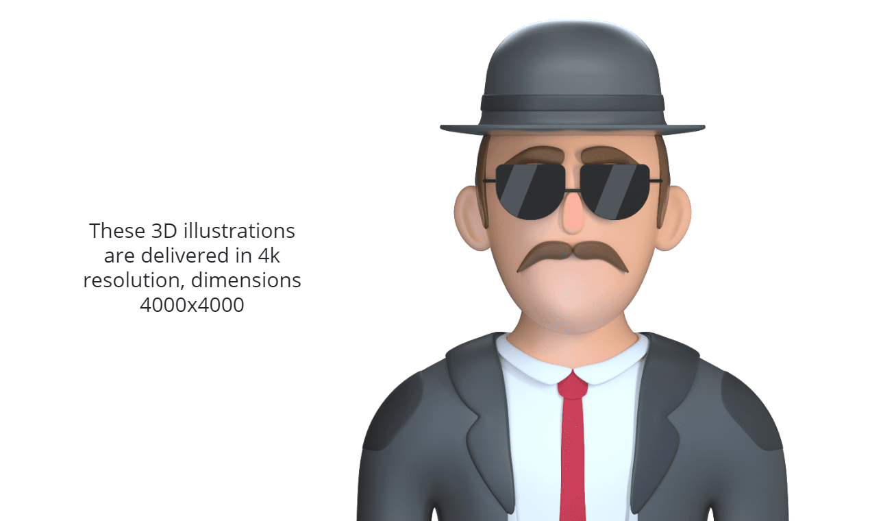 3d characters in 4k resolution