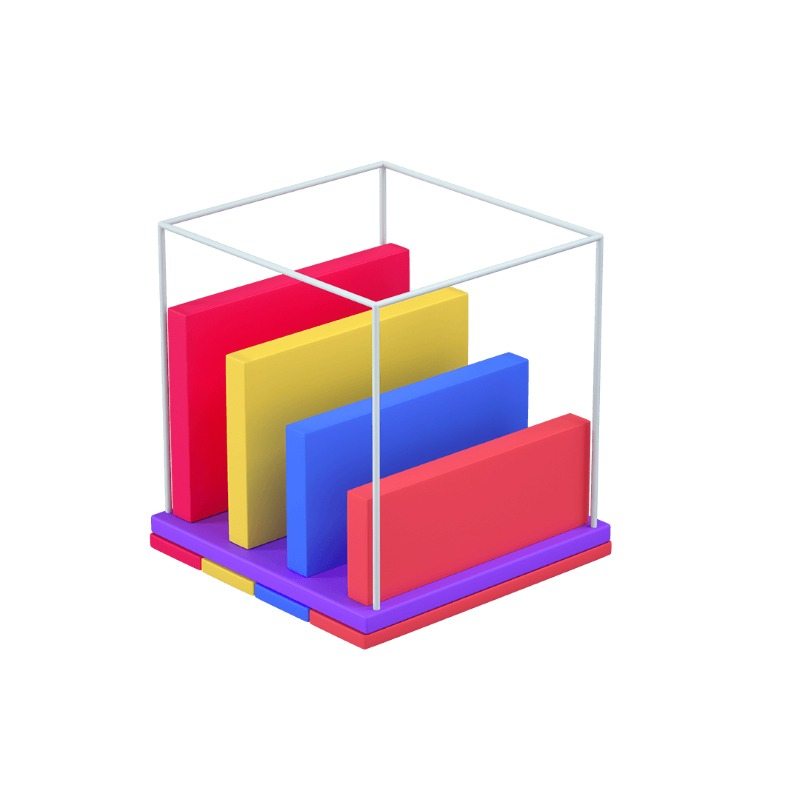 3d icon of a chart stack