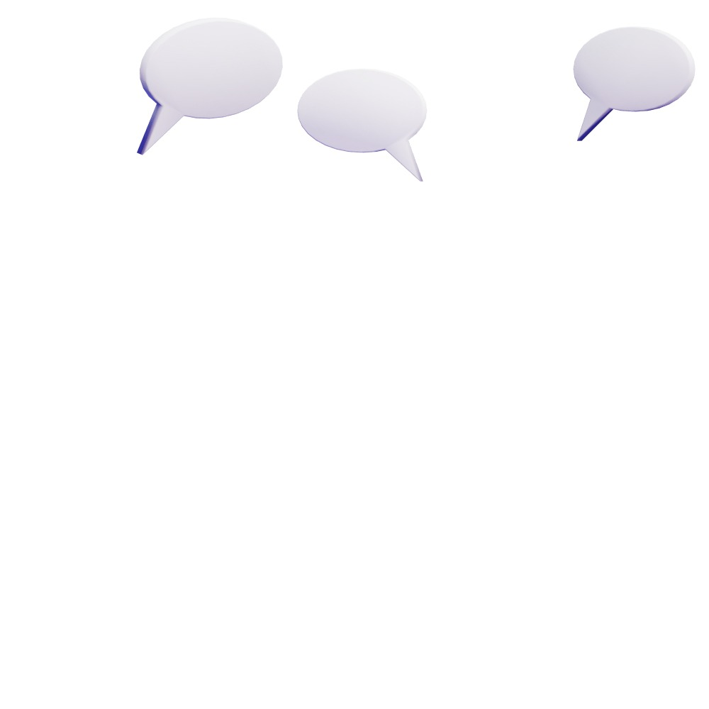 3d shapes of speech bubbles to add effects to characters