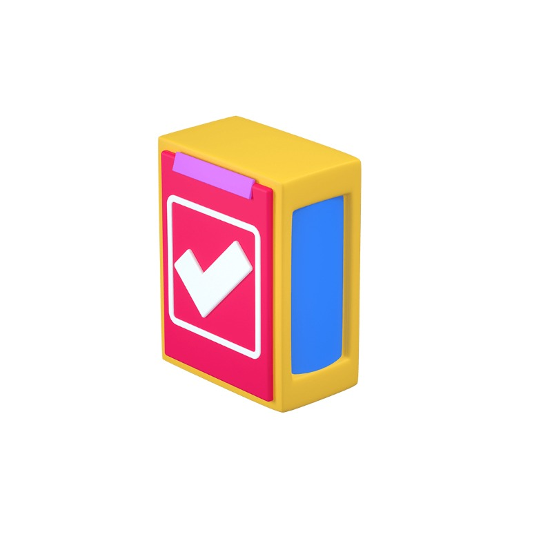3d icon of a checkbox