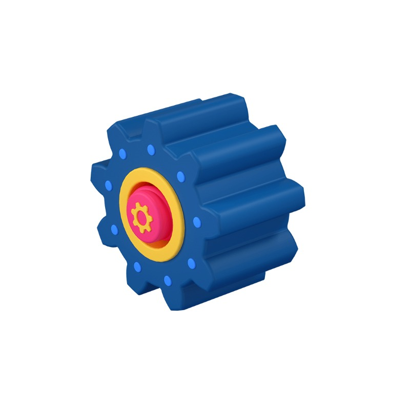 3d icon of a cog or sprocket