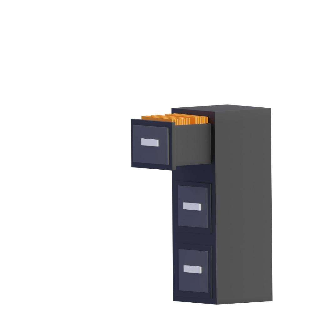 3d illustration of a filing cabinet