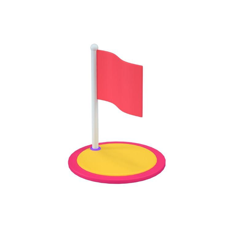 3d icon of a milestone flag