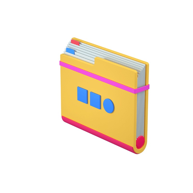 3d icon of a folder