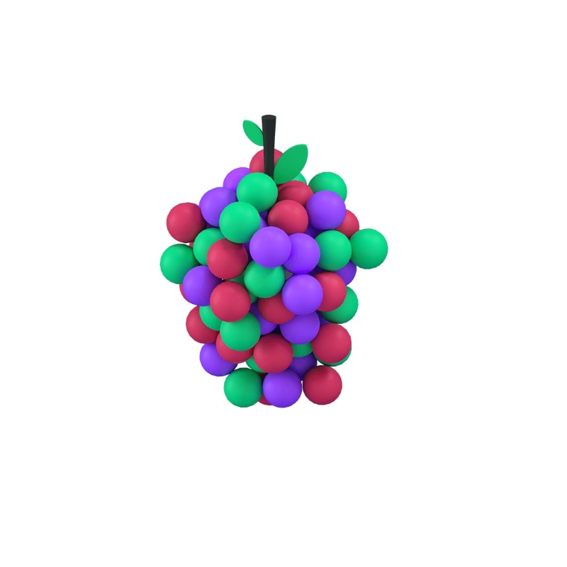 3d icon of grapes