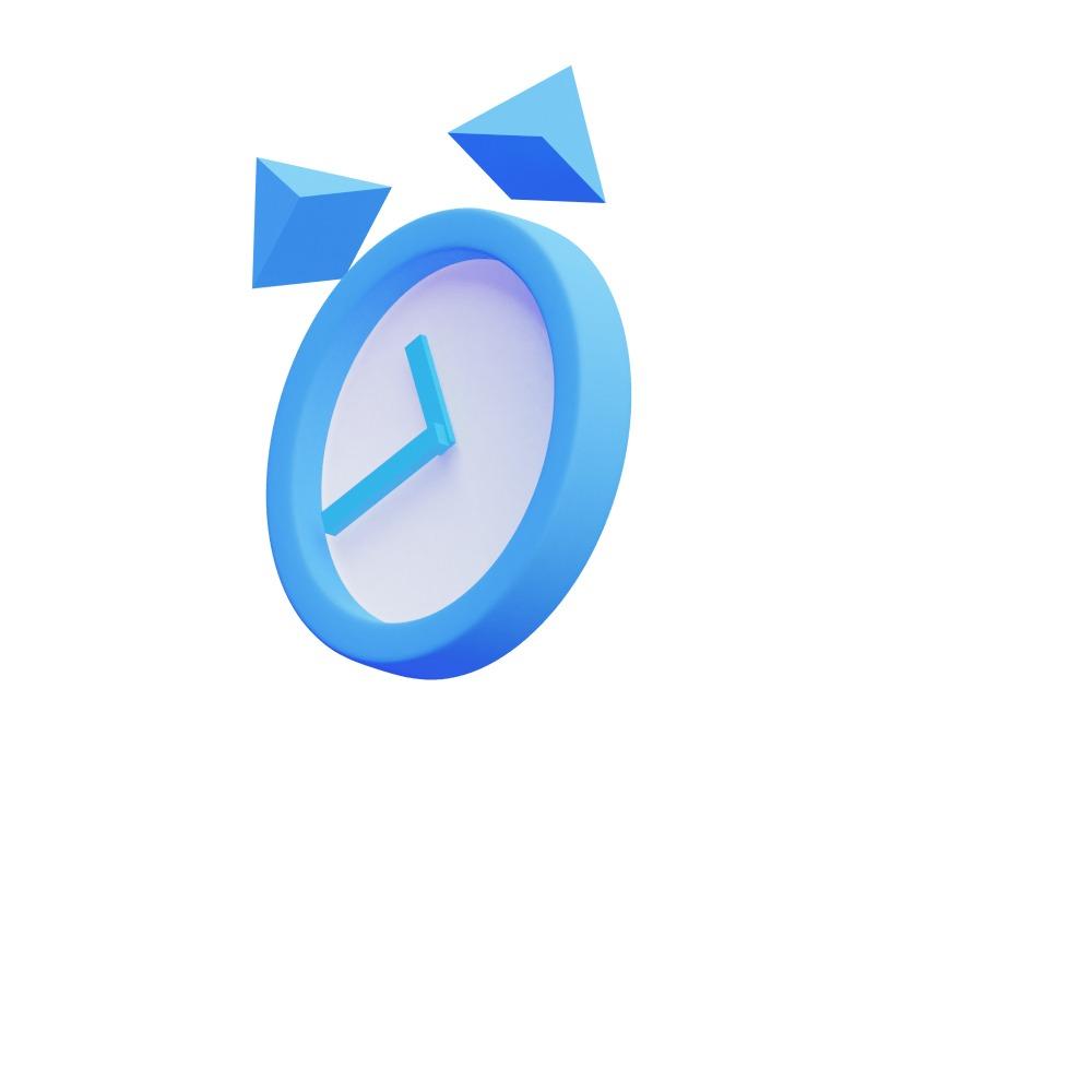 3d illustration of a large clock