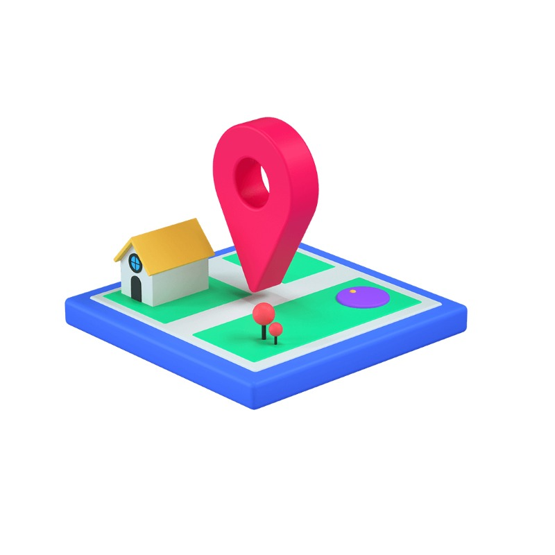 3d icon version of the map location icon