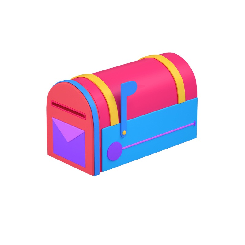 3d icon of a mailbox