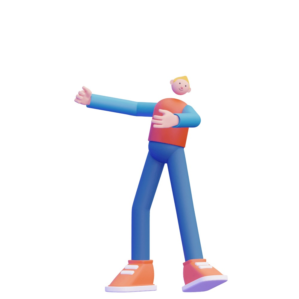3d illustration of a blonde 3d character