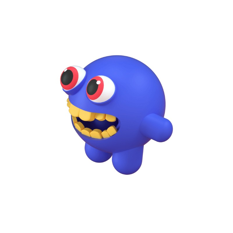 3d icon of a monster character