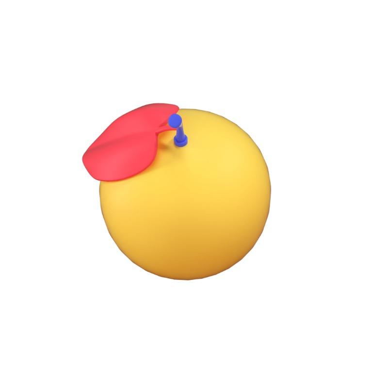 3d icon of an orange fruit