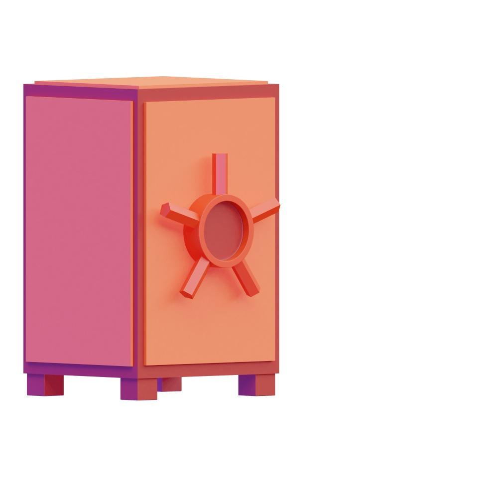 3d illustration of a secure vault