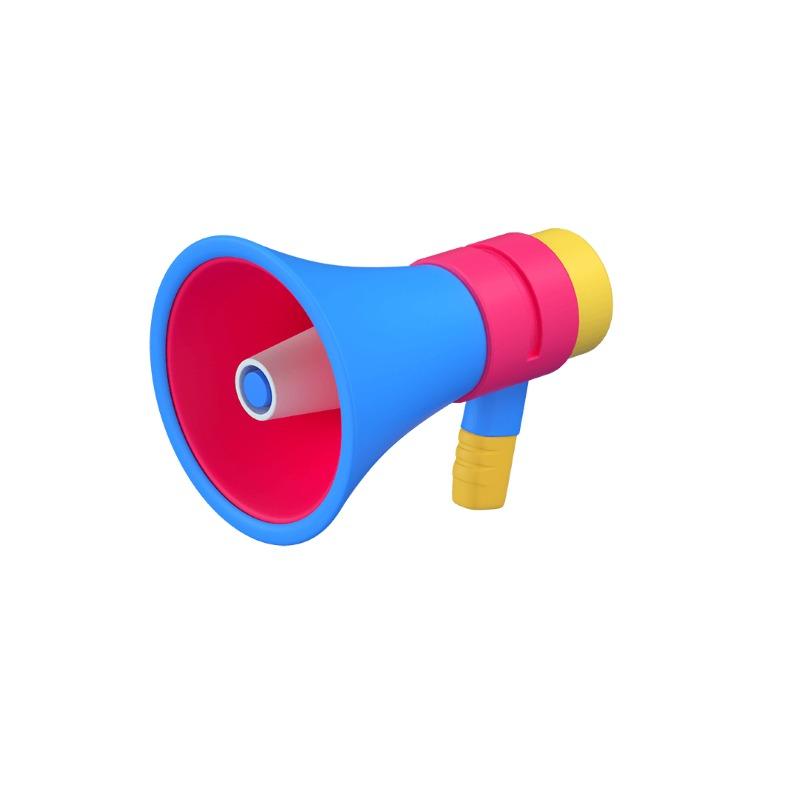 3d icon of a loud speaker